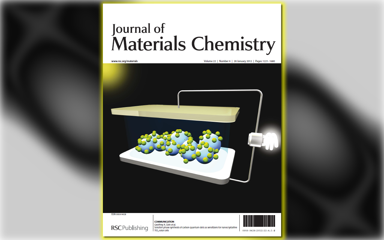 Cover Design: Carbon Q-dots Sensitized Solar Cell