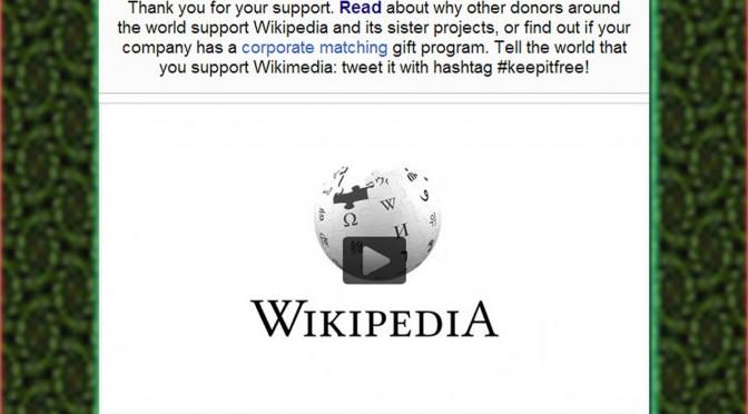 Wikipedia donation 2013